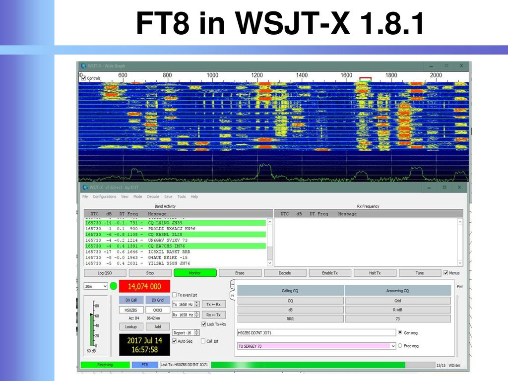 FT8 in WSJT-X 1.8.1