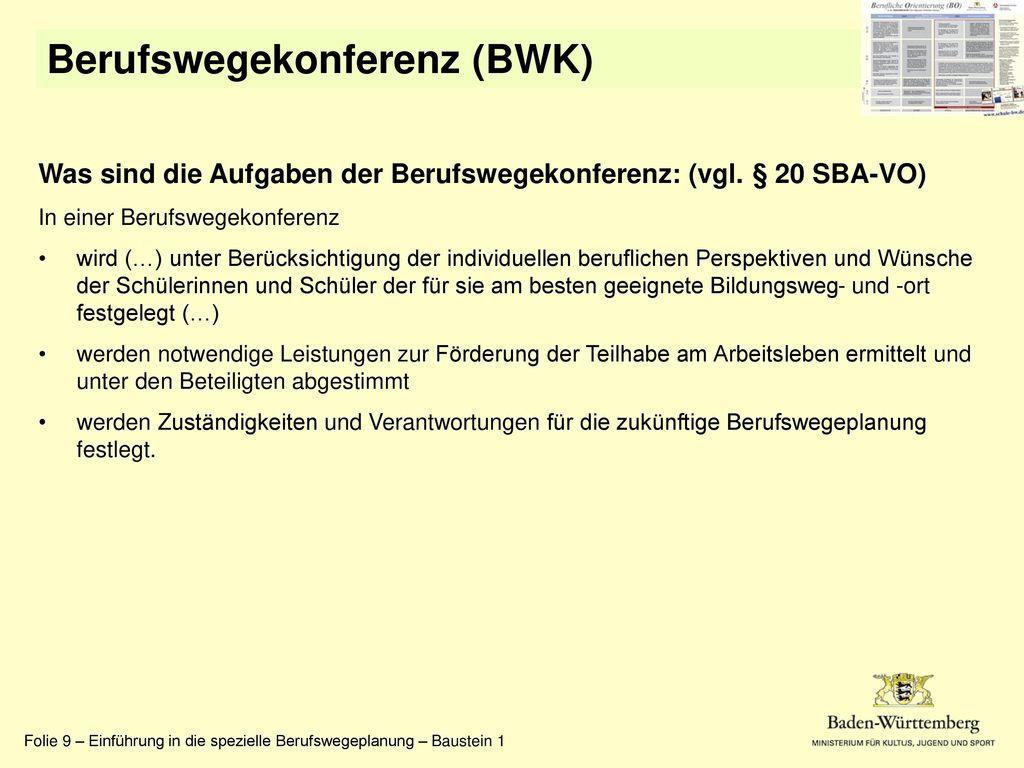 Berufswegekonferenz (BWK)