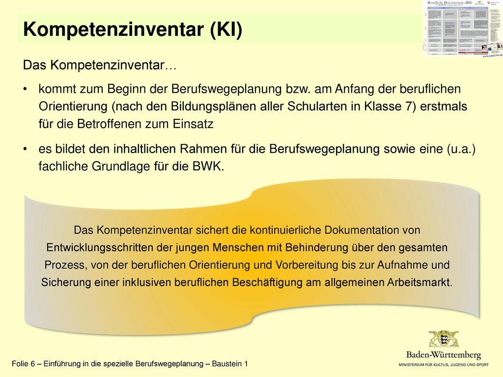 Kompetenzinventar (KI)