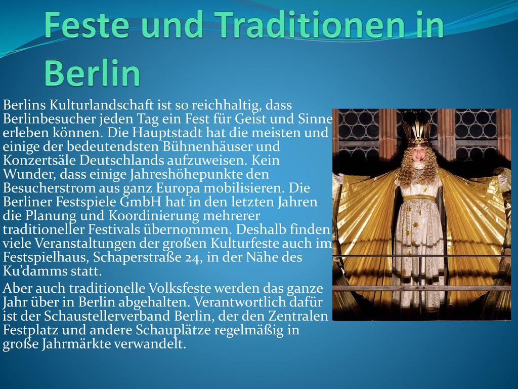 Feste und Traditionen in Berlin