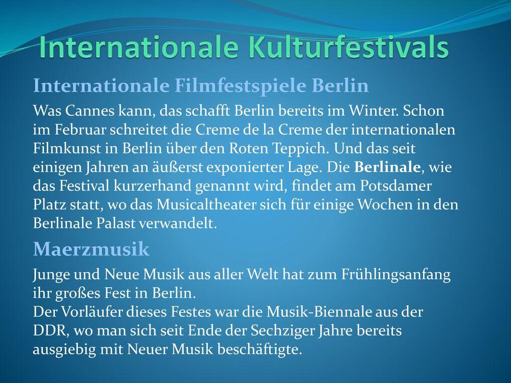 Internationale Kulturfestivals