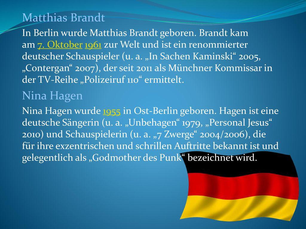 Matthias Brandt Nina Hagen