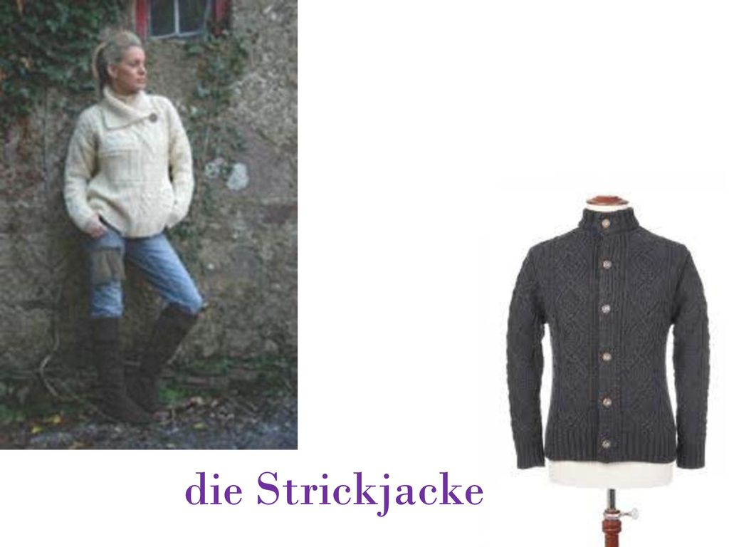 die Strickjacke