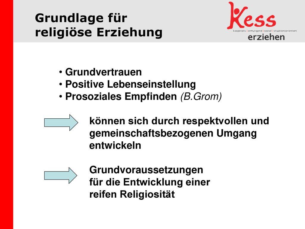 Grundlage für religiöse Erziehung Grundvertrauen