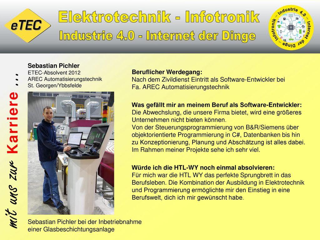 Sebastian Pichler ETEC-Absolvent 2012 AREC Automatisierungstechnik St