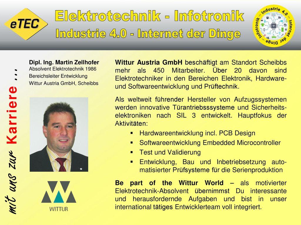 Dipl. Ing. Martin Zellhofer Absolvent Elektrotechnik 1986