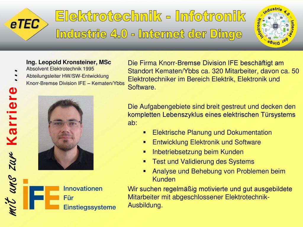 Ing. Leopold Kronsteiner, MSc Absolvent Elektrotechnik 1995