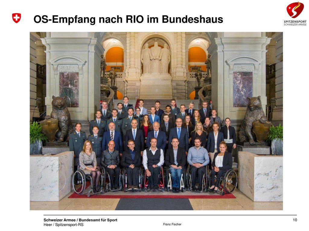OS-Empfang nach RIO im Bundeshaus