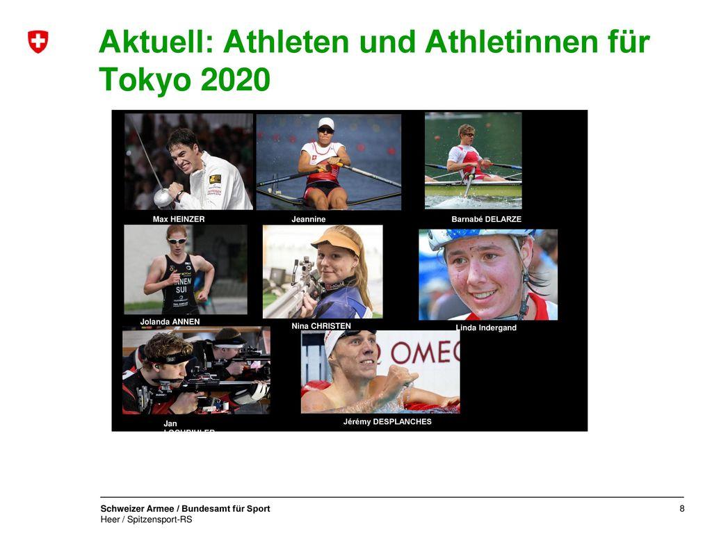 Aktuell: Athleten und Athletinnen für Tokyo 2020