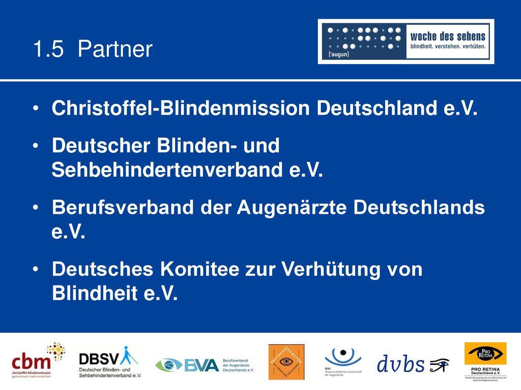 1.5 Partner Christoffel-Blindenmission Deutschland e.V.
