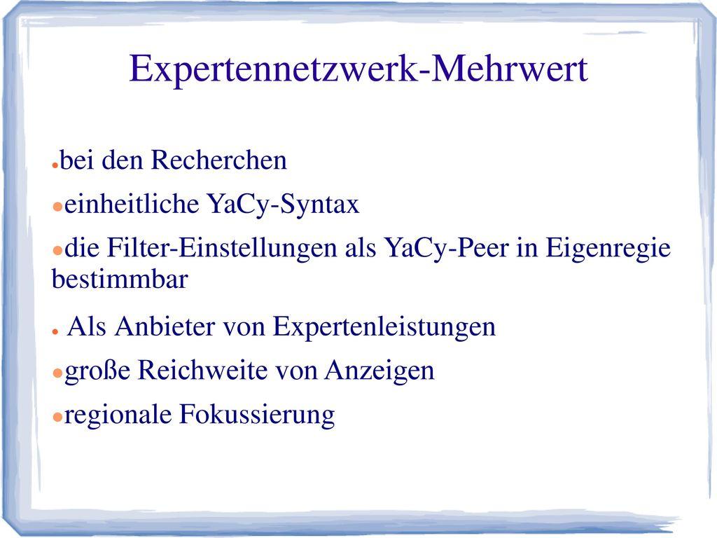 Expertennetzwerk-Mehrwert