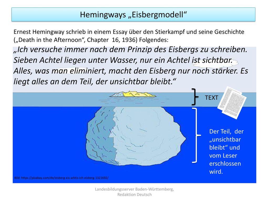 """Hemingways """"Eisbergmodell"""