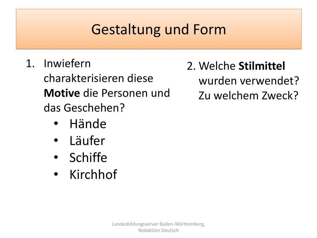 Landesbildungsserver Baden-Württemberg, Redaktion Deutsch