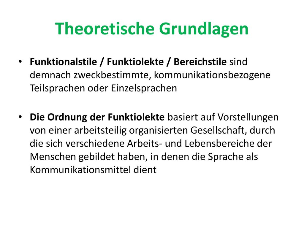Theoretische Grundlagen