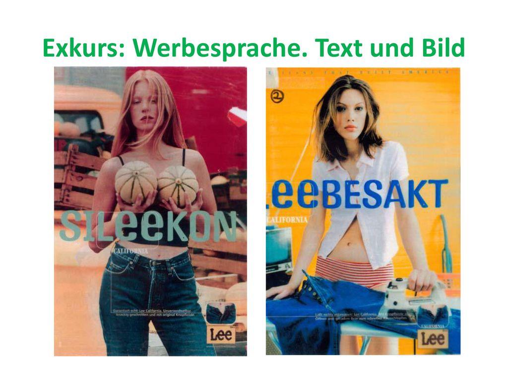 Exkurs: Werbesprache. Text und Bild
