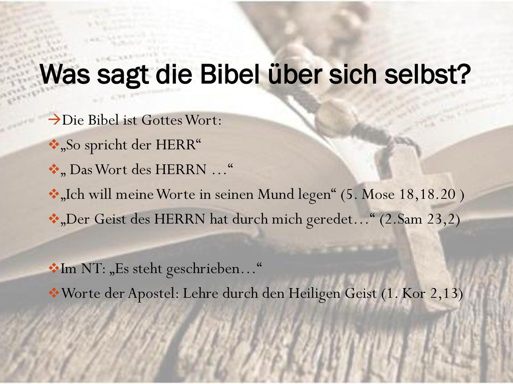 Was sagt die Bibel über sich selbst