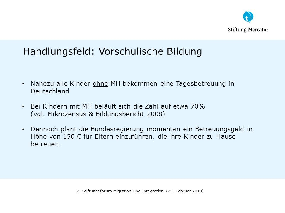 2. Stiftungsforum Migration und Integration (25. Februar 2010)