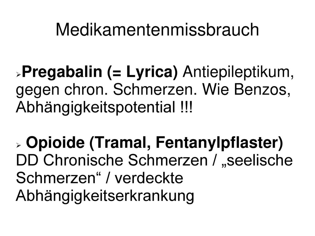 Medikamentenmissbrauch