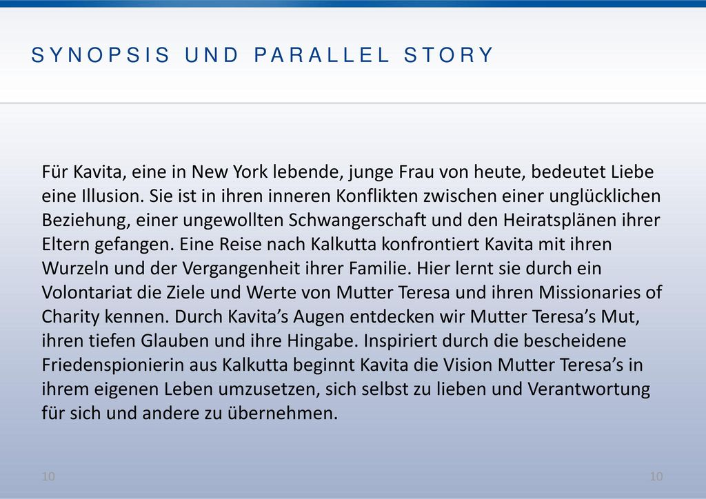 SYNOPSIS UND PARALLEL STORY