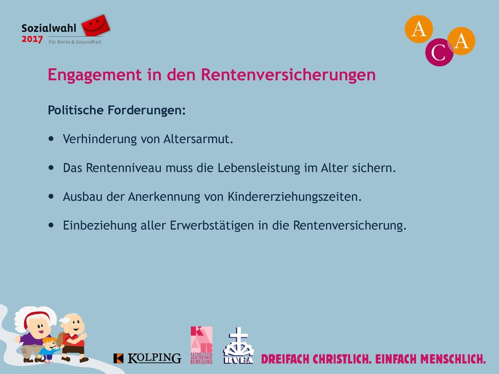 Engagement in den Rentenversicherungen