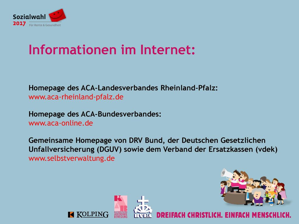 Informationen im Internet: