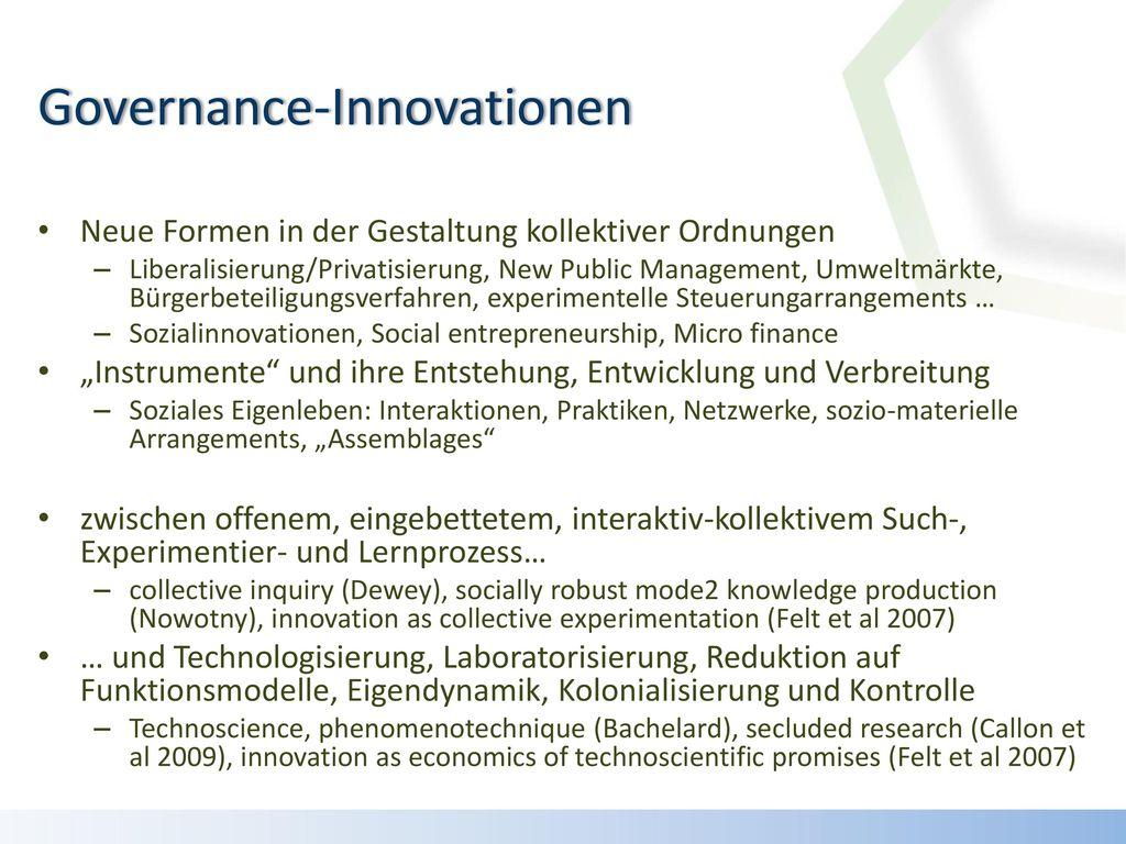 Governance-Innovationen