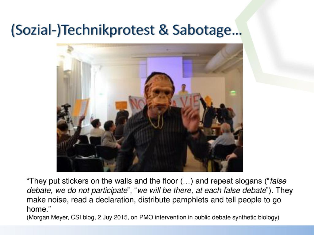 (Sozial-)Technikprotest & Sabotage…