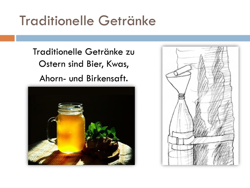 Traditionelle Getränke