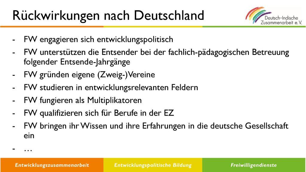 Rückwirkungen nach Deutschland