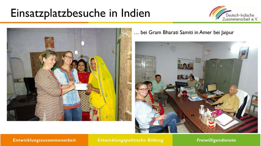 Einsatzplatzbesuche in Indien