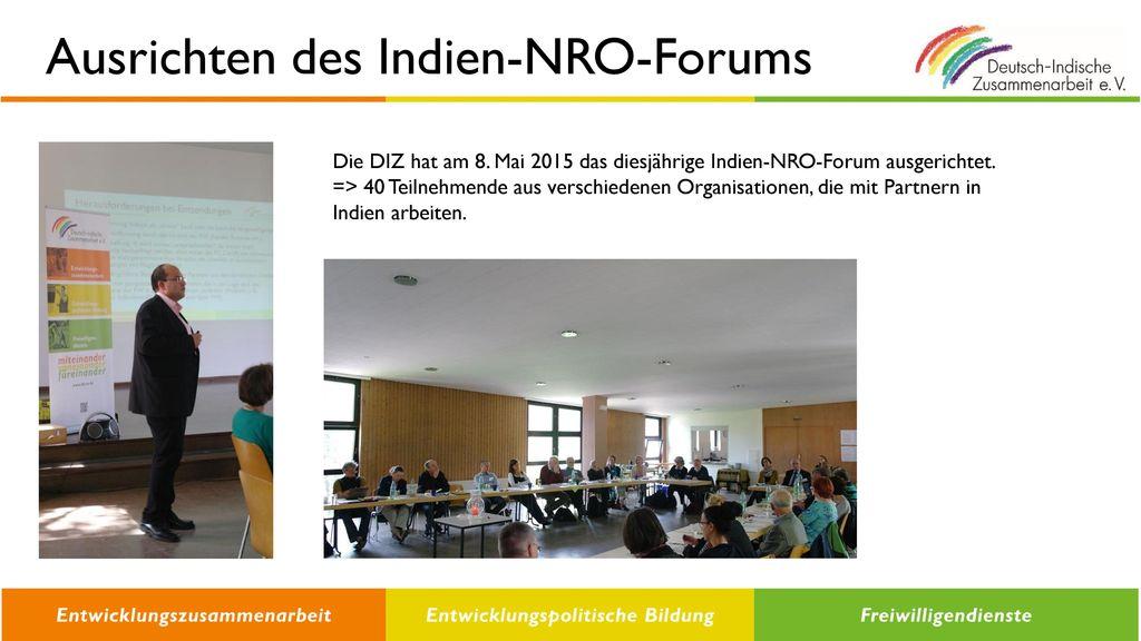 Ausrichten des Indien-NRO-Forums