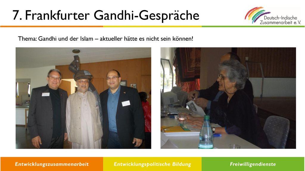 7. Frankfurter Gandhi-Gespräche