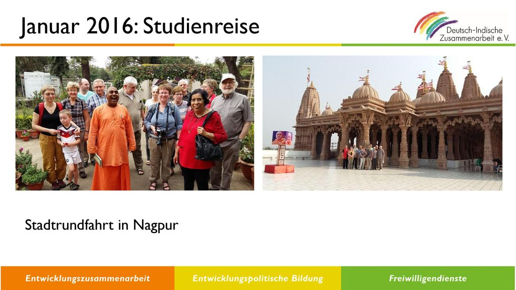 Januar 2016: Studienreise Stadtrundfahrt in Nagpur