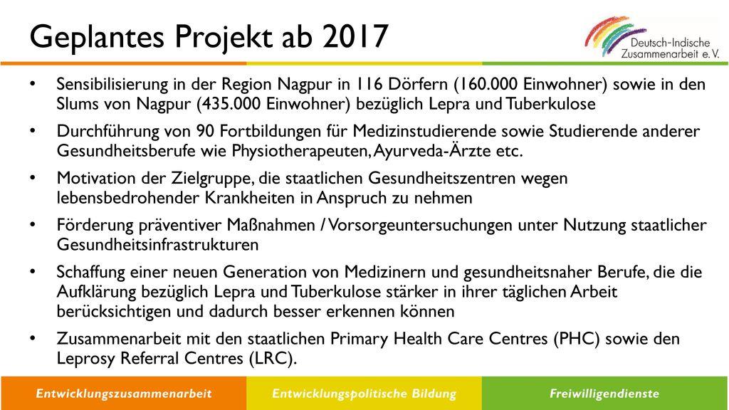 Geplantes Projekt ab 2017