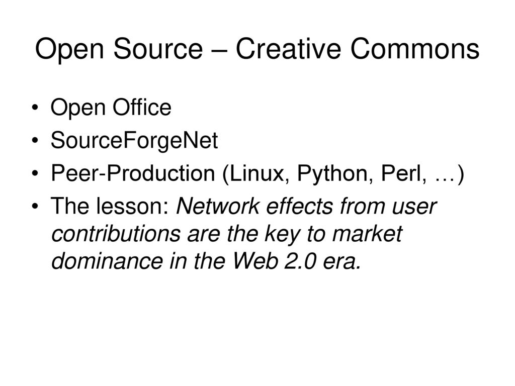 Open Source – Creative Commons