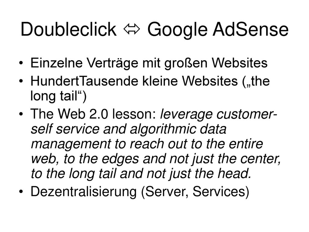 Doubleclick  Google AdSense