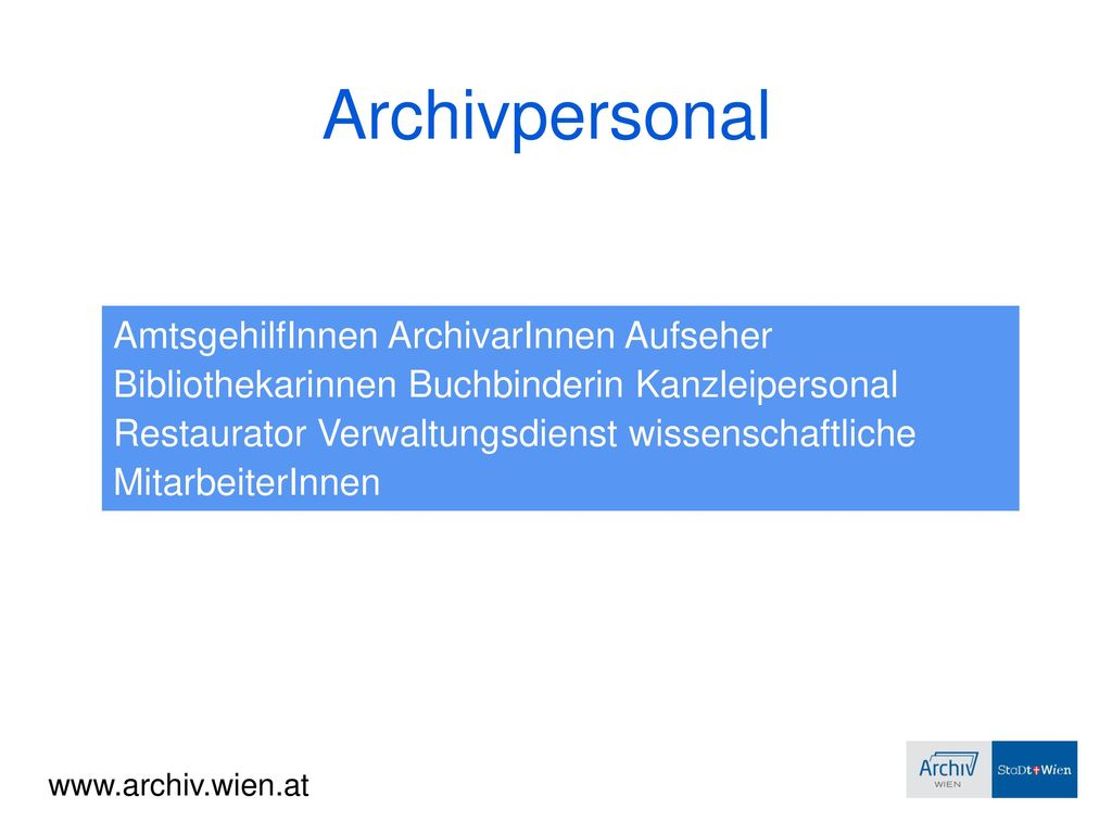 Archivpersonal