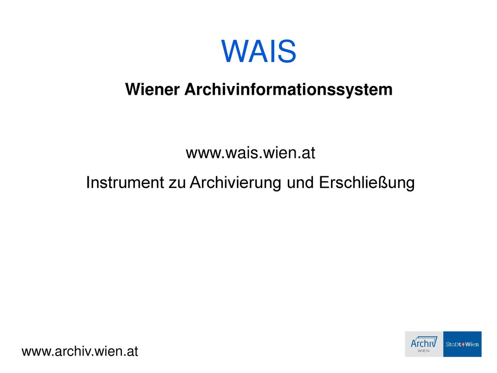 Wiener Archivinformationssystem