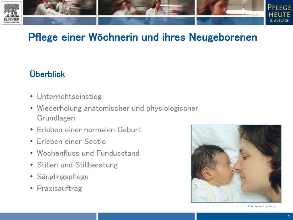 Pflege einer Wöchnerin und ihres Neugeborenen