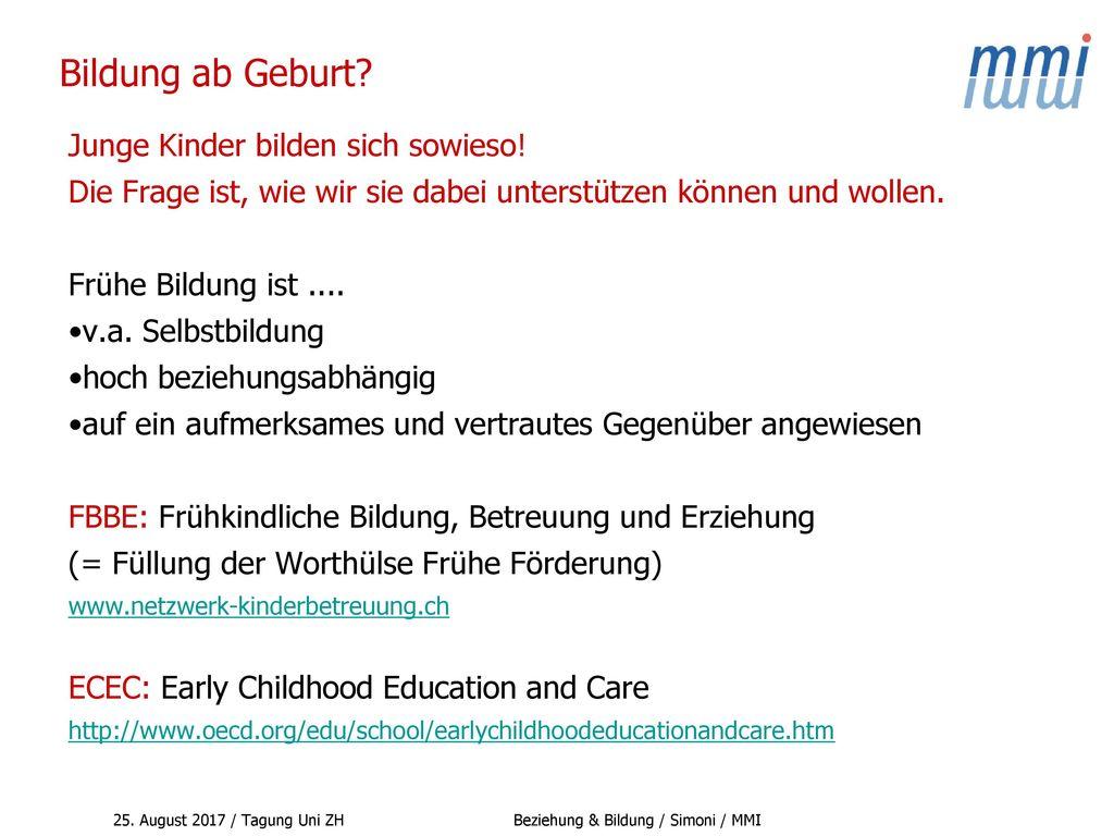 Bildung ab Geburt Junge Kinder bilden sich sowieso!