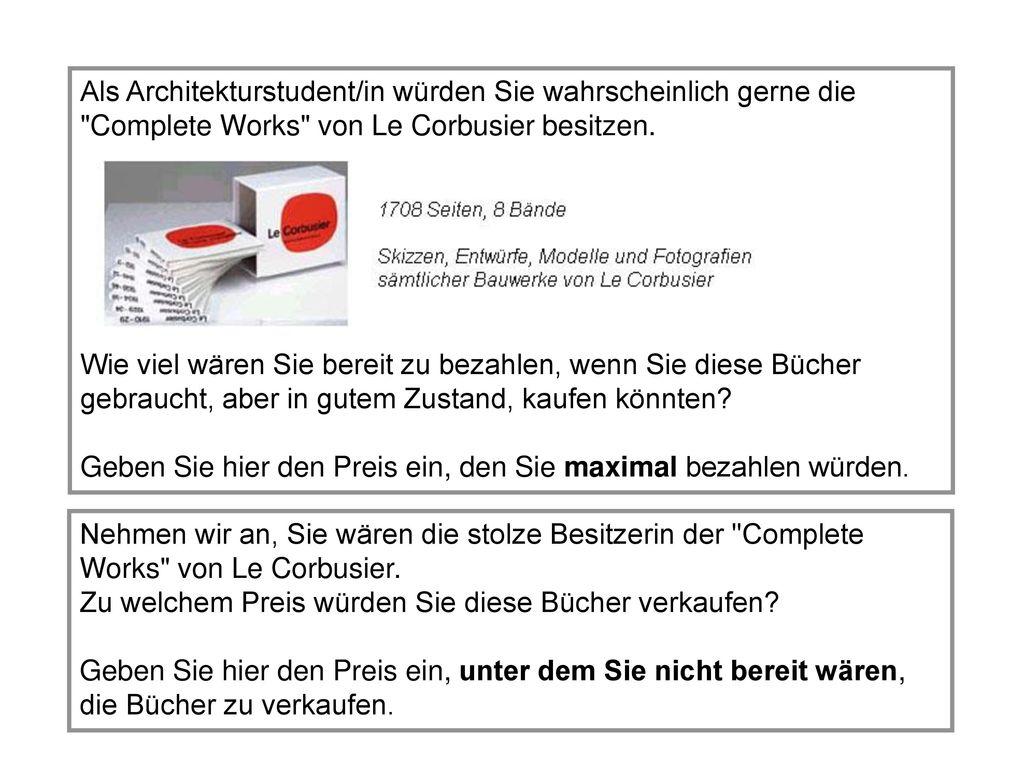 Als Architekturstudent/in würden Sie wahrscheinlich gerne die Complete Works von Le Corbusier besitzen.