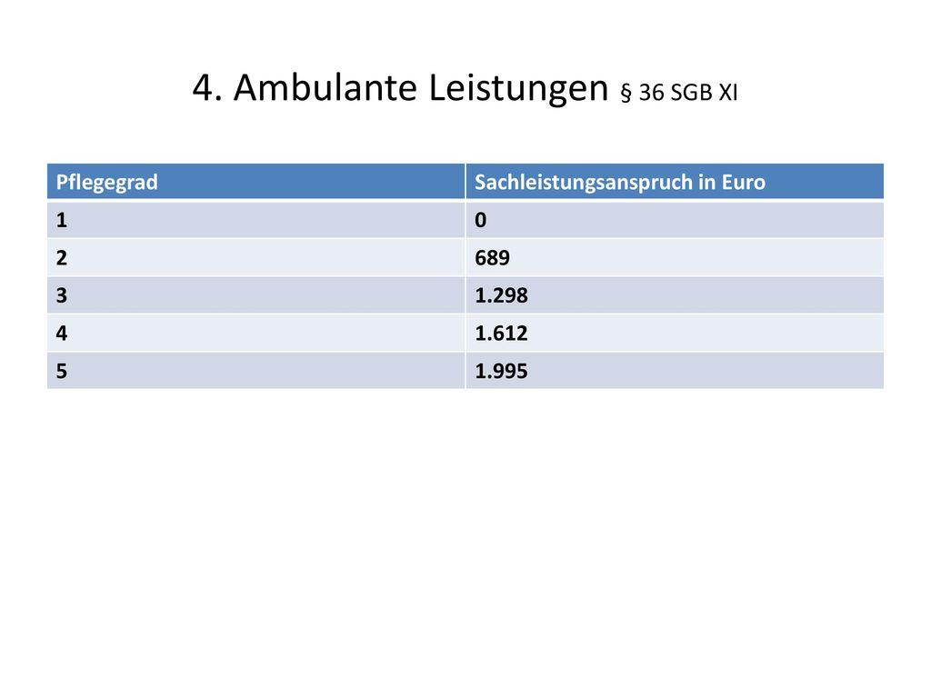 4. Ambulante Leistungen § 36 SGB XI