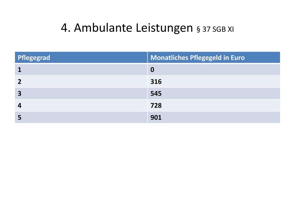 4. Ambulante Leistungen § 37 SGB XI