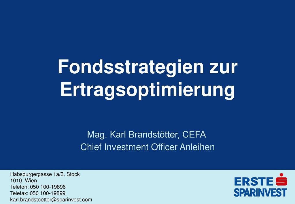 Fondsstrategien zur Ertragsoptimierung