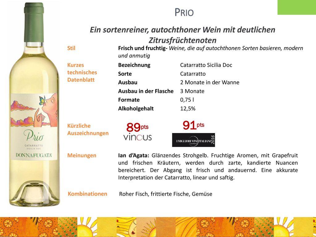 Ein sortenreiner, autochthoner Wein mit deutlichen Zitrusfrüchtenoten