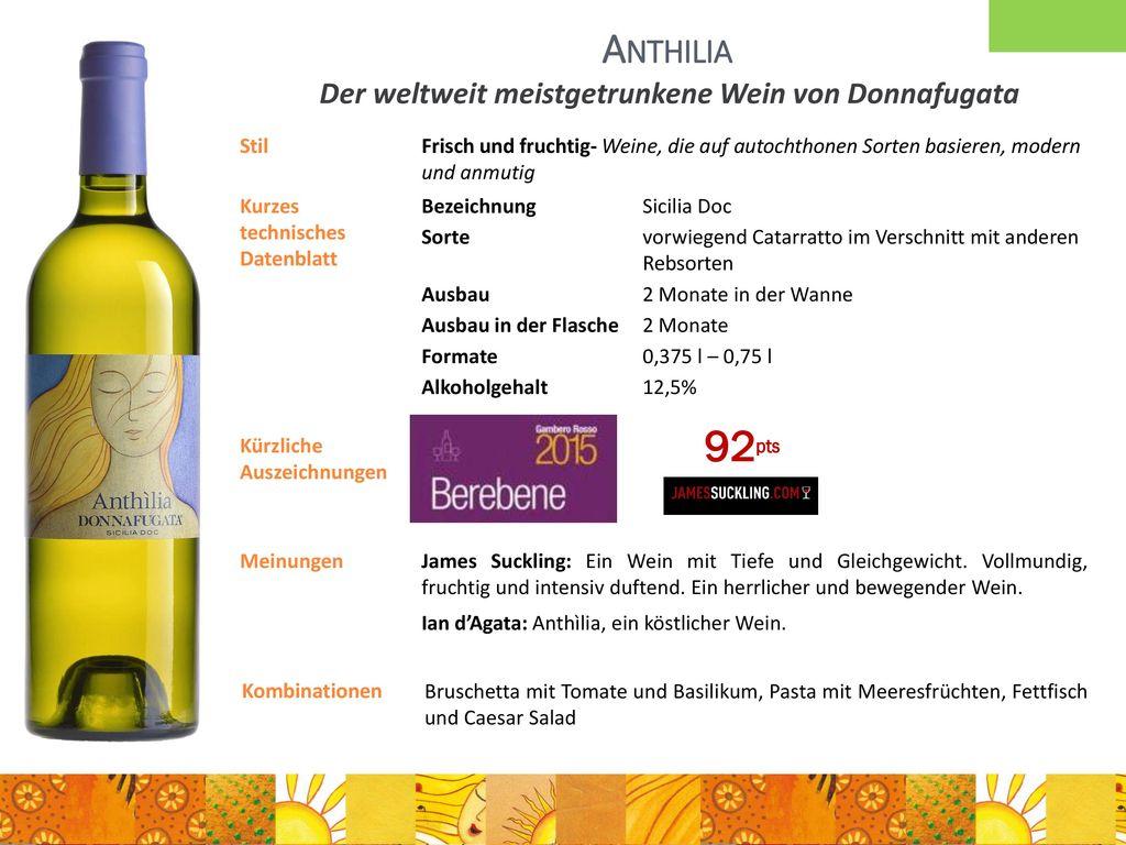 Der weltweit meistgetrunkene Wein von Donnafugata