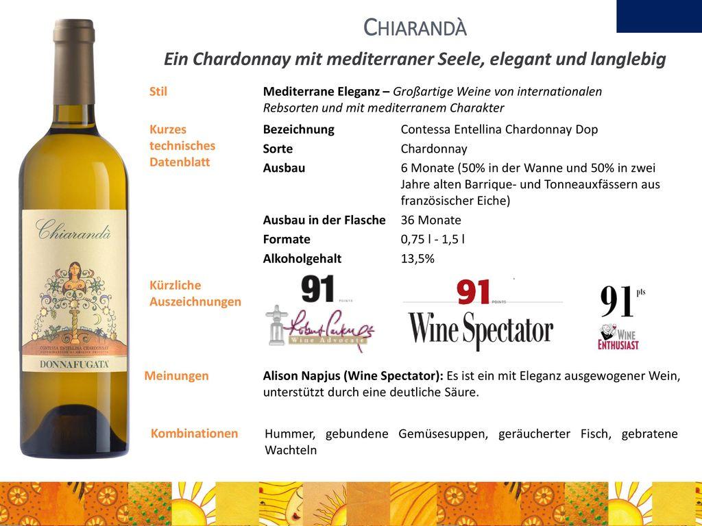 Ein Chardonnay mit mediterraner Seele, elegant und langlebig