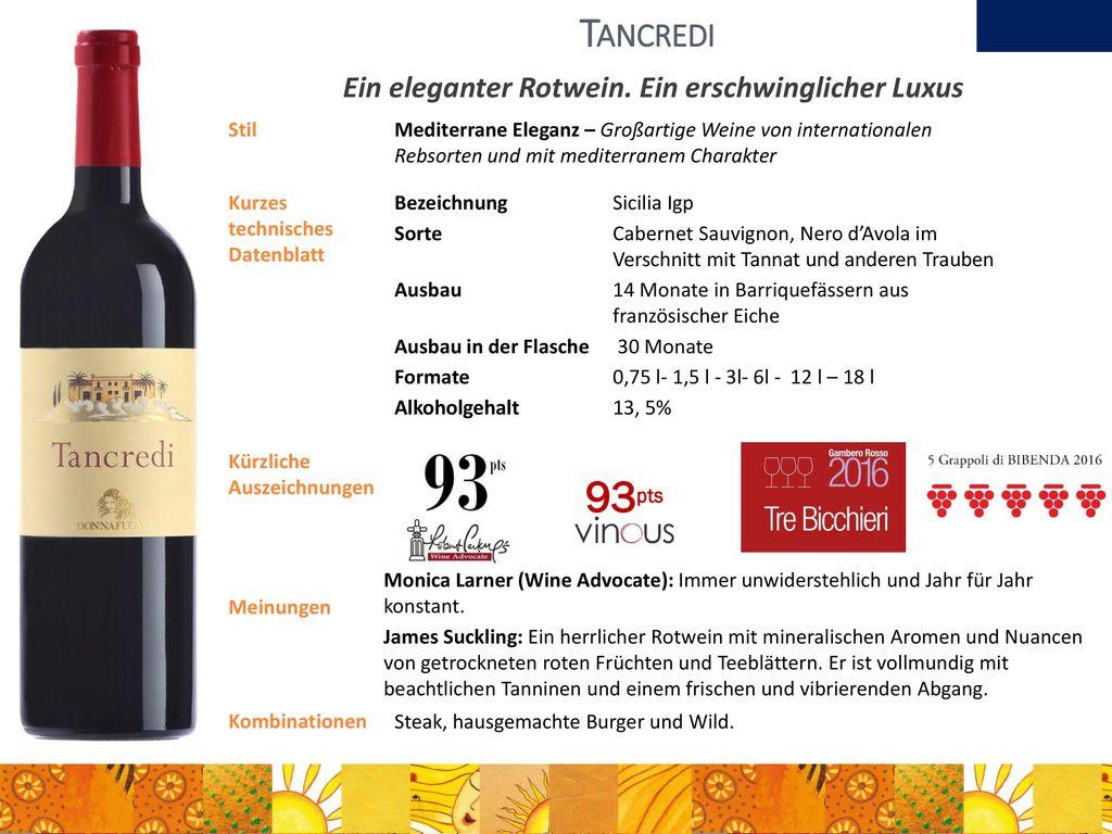 Ein eleganter Rotwein. Ein erschwinglicher Luxus