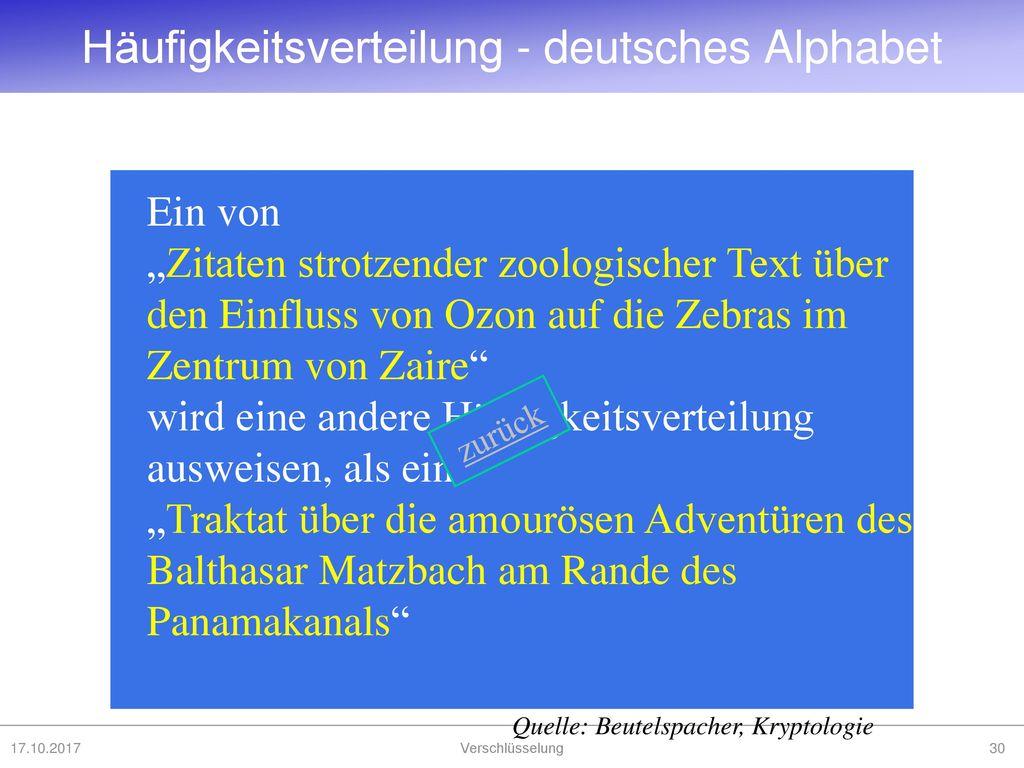 Häufigkeitsverteilung - deutsches Alphabet