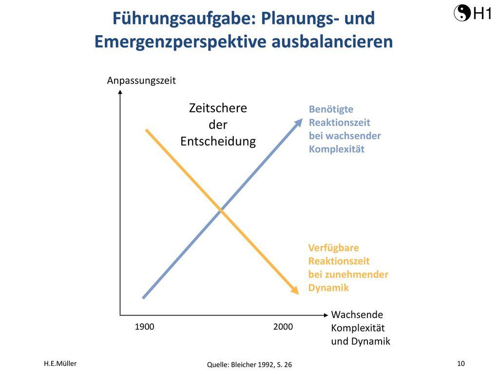 Führungsaufgabe: Planungs- und Emergenzperspektive ausbalancieren